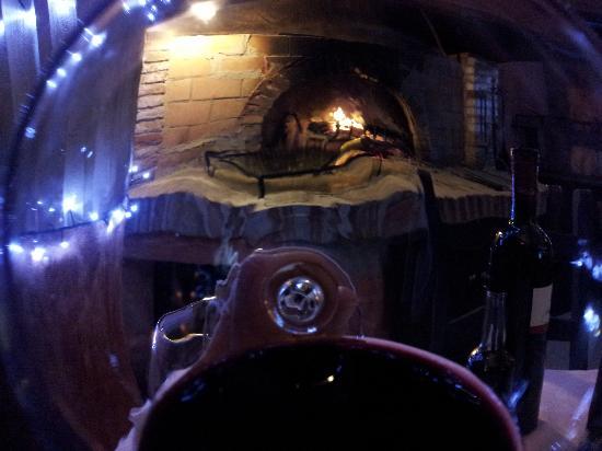 La Griglia: il camino dal bicchiere