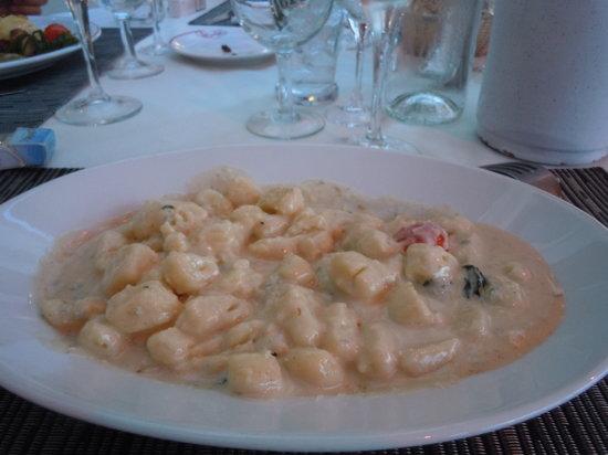 Restaurant Le Bellanda : les gnocchis au gorgonzola