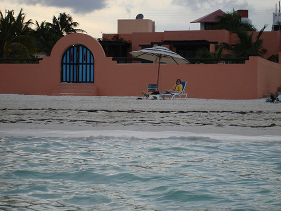 Santa Fe Bed and Breakfast: Beach in front of the Santa Fe
