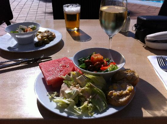 Lunch at pool - from salad bar