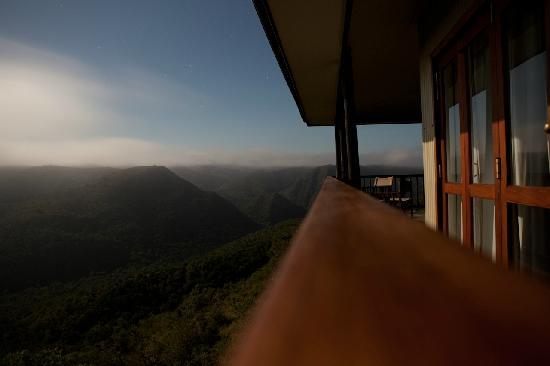Camp Figtree: Aussicht bei Nacht