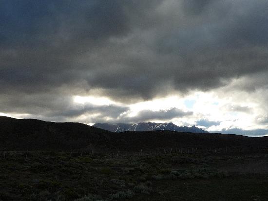 Estancia Menelik: Vista al PN Perito Moreno desde la estancia