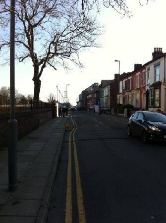 The Anfield B&B: in front of the hostel