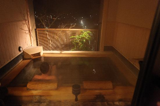 Takayama Ouan: Private Bathroom at roof top for use 30mins  - Cypress Wood Bath