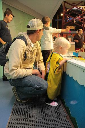 Portland Children's Museum: the water room (and the water is warm!)