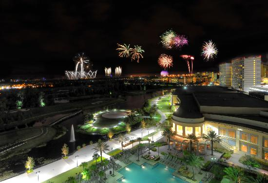 Waldorf Astoria Orlando: This suite has a view of Disney's many fireworks shows.