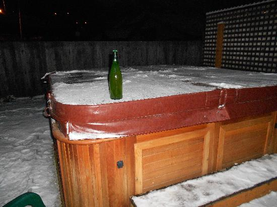 Hercules Inn: out door hot tub....clean & hot!