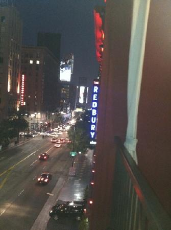 The Redbury Hollywood: view from the balcony