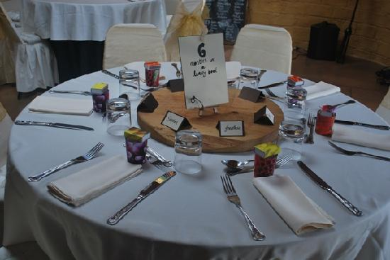The Mudcastle: one table at our wedding