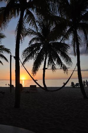 Nirvana on the Beach: erster sonnenuntergang....