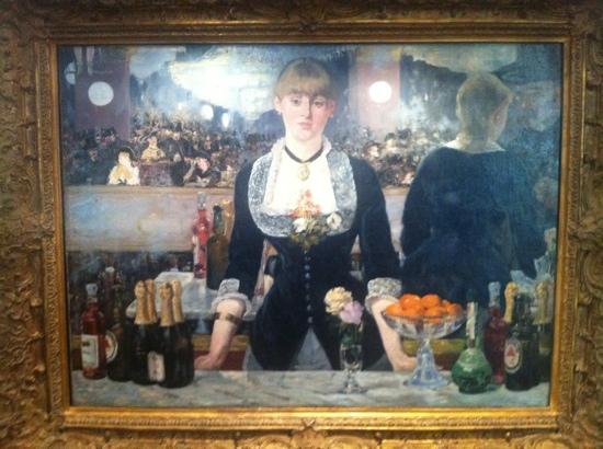 manet at the bar Manet was the elder statesman of the impressionists, although he never participated in their exhibitions but continued to compete in the salonshis unconventional subject matter drawn from modern life, and his concern for the artist's freedom in handling paint made him an important precursor of impressionism.