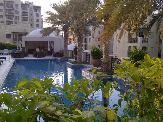 Manzil Downtown: View of pool from room