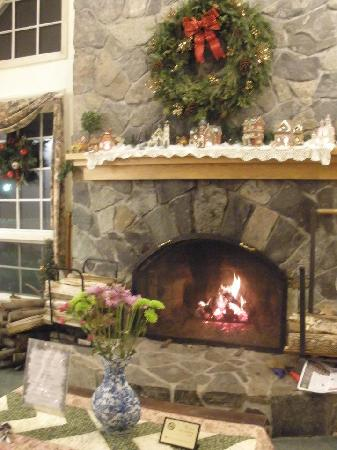 Lodge at Jackson Village: The fireplace