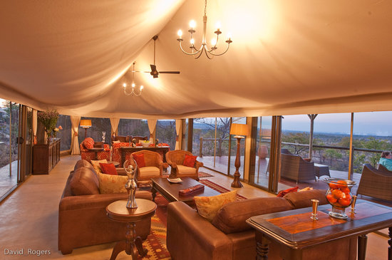 The Elephant Camp: The main lounge area