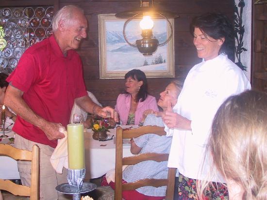 Hotel Restaurant Bergsonne : endlich kann ich Dorli für das Essen danken und gratulieren