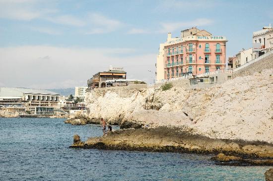 Hotel PERON vu de la mer