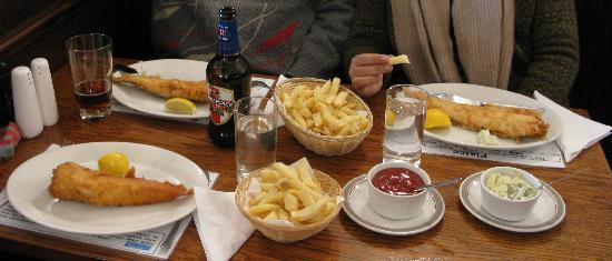 Haddock chips cod chips picture of north sea fish for Sea salt fish grill