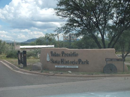 Tubac Presidio State Historic Park: The entrance from to the park
