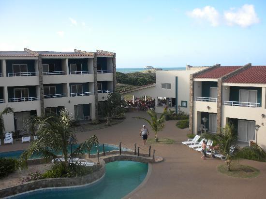 Hotel Kokobay: vue de notre balcon, chambre 521
