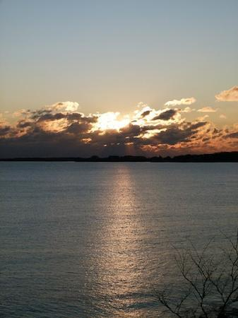 """The Quarterdeck Inn by the Sea: Sunrise from the deck of """"Challenge"""" Roon"""