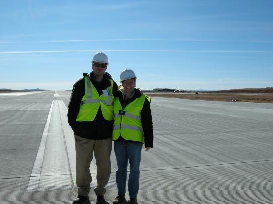 Truth or Consequences, NM: Standing on runway 16.
