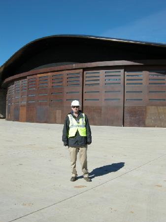 Truth or Consequences, NM: Standing near the hangar doors.