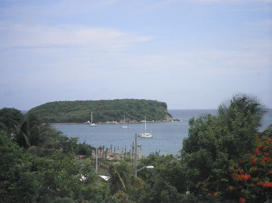 View from Casa Alta Vista terrace in Vieques, PR