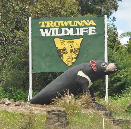 Trowunna Wildlife Sanctuary: The entrance is not easy to miss!