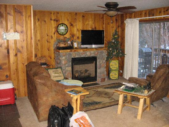 Fall River Cabins: Comfy Living Room