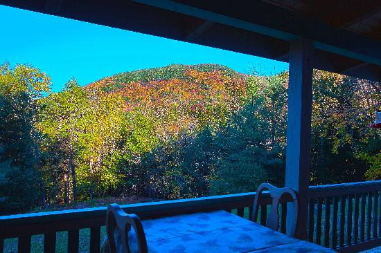 Cobble House Inn Bed and Breakfast: Fall colors viewed from our Grand Porch