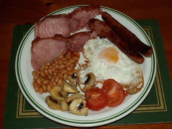 Full English breakfast at Moorhayes House