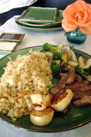 Hana Teppanyaki House : Filet Mignon & Scallops