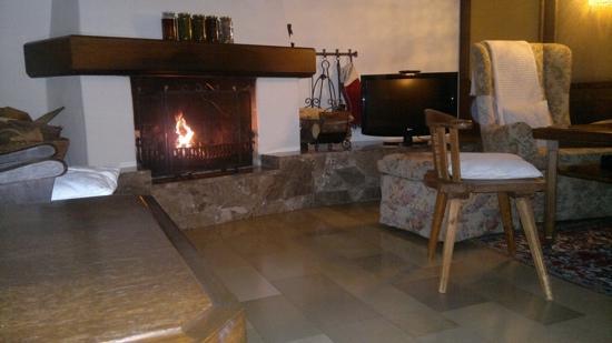 Hotel Olympia Garni: Olympia - log fire