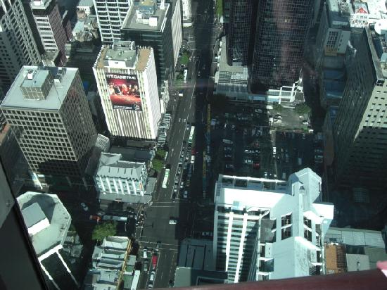 BEST WESTERN President Hotel Auckland: The hotel is the one with the hording, View from sky tower