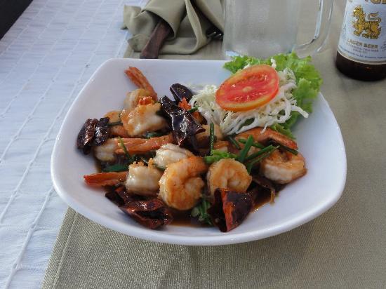 Sala Bua & Lo Spuntino Restaurant: gamberi al tamarindo