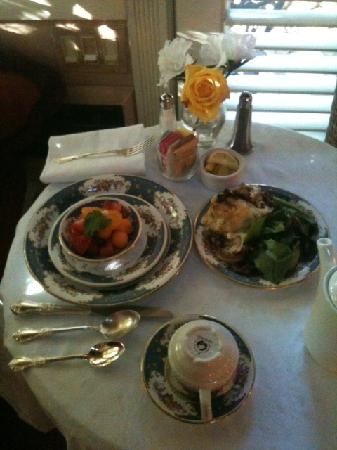 Simpson House Inn: This was breakfast on the second day