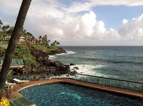 Poipu Shores Resort: View from lanai.