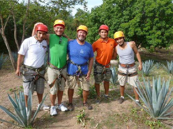 GO GAY! Jungle Adventure : Getting ready for the longest zip line. FUN!