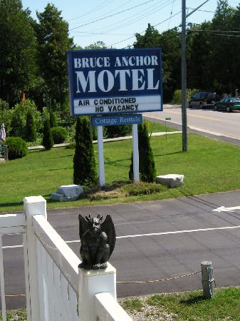 Bruce Anchor Motel and Cottage Rentals: The Travelling Gargoyle at the hotel