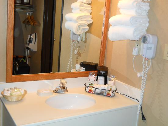 Best Western Plus GranTree Inn: Separate mirror/sink area
