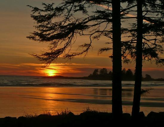 South Chesterman Beach sunset, Jan 10, 2012