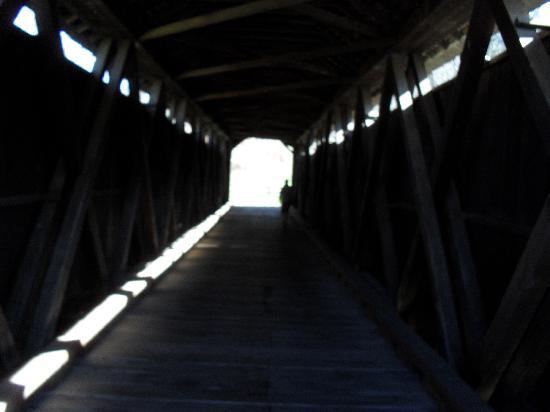 Locust Creek Bridge: inside the bridge