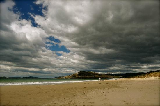 Seven Mile Beach with storm approaching