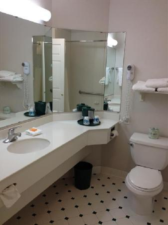 La Quinta Inn & Suites Denver Boulder - Louisville: Clean sink and mirror. Outlet to the left (not pictured)