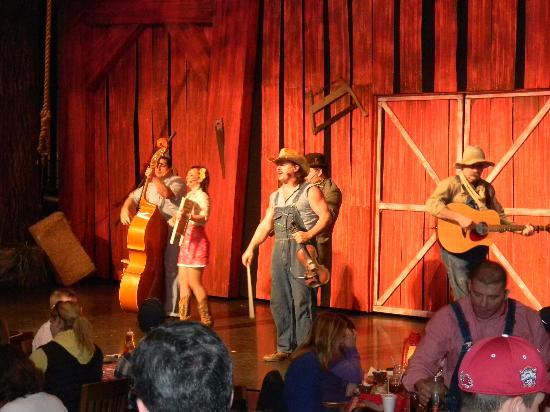 Hatfield & McCoy Dinner Show: This is at the very beginning... i was so into the show i forgot to take anymore :)