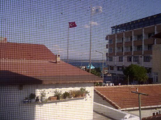 Hotel Crowded House : View from second floor window through fly screen