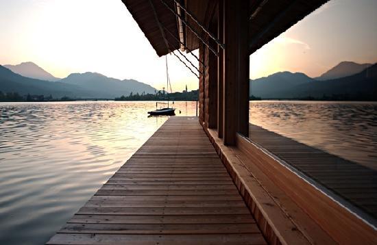 Seehotel Enzian: Saunahaus Sonnenuntergang
