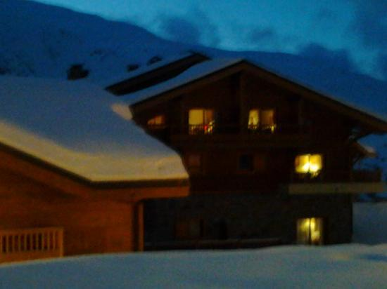 Les Clarines Residence and Spa : Winterzicht op Les Clarines