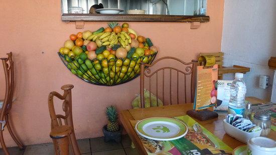 100% Natural : fruit storage inside the restaurant