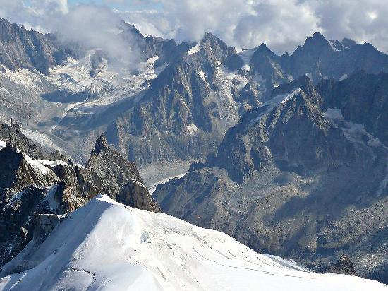 Mont Blanc: view from above
